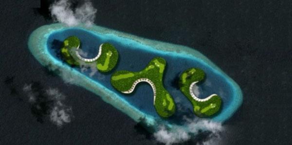 Golfen auf den Malediven: Bis 2015 wird ein 18-Lochplatz entstehen