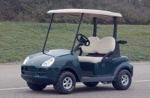 Golfcar von Porsche für den spanischen Golfplatz Alcanada
