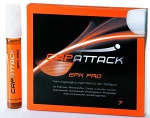 Erste Nahrungsergänzung für Golfer von Capattack: EPK Pro