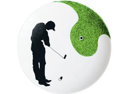 Ein Golfer auf Porzellan …