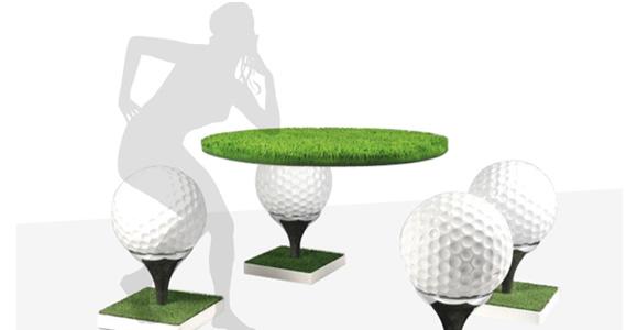 Designklassiker von morgen: Golfball als Hocker von Gufram