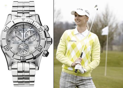 Handgelenk-Check: Was für eine Uhr trägt Golfproette Anja Monke?