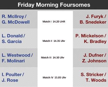 Wie erwartet McIlroy mit Kumpel McDowell haben den Opening Shot für Team Europe