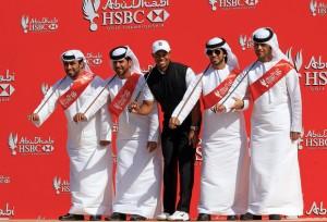 3 Mio Startgeld nimmt Tiger Woods für den Start in AbuDhabi