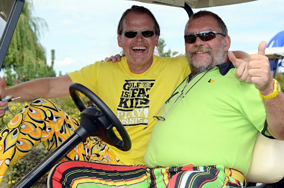 Bei den Golfwochen geht es nicht immer nur traditionell, sondern auch farbenfroh und lustig zu - Photocredit: KöGoWo