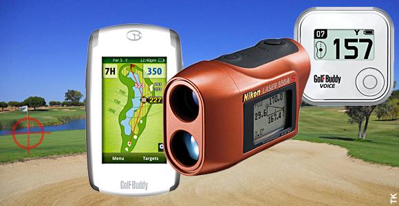 Entfernungsmesser mit gps laser und apps auf den golfplatz
