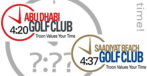 So wirbt Troon, auf allen Plätzen einheitlich, für das Spieltempo einer Runde - Credits: Troon Golf LLC, Th. Klages