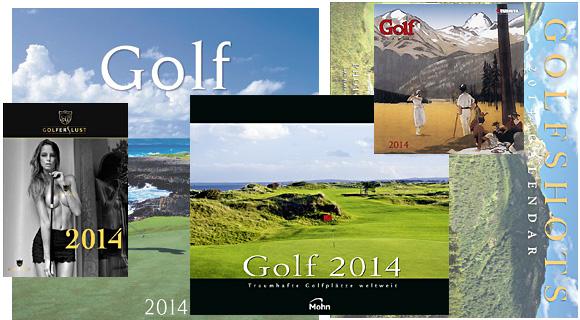 Eine Auswahl der Golfkalender für 2014