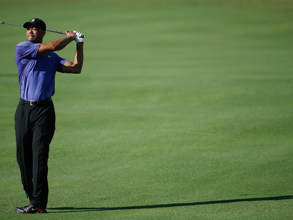 Tiger Woods beim Comeback Letzter
