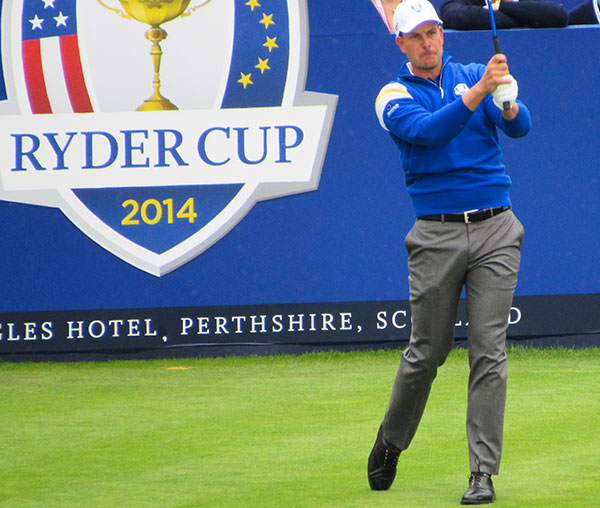 Henrik Stenson 2014 in Gleneagles Fotocredit: JM