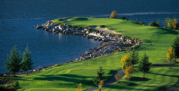 Der Furry Creek Golf Club in British Columbia, Kanada