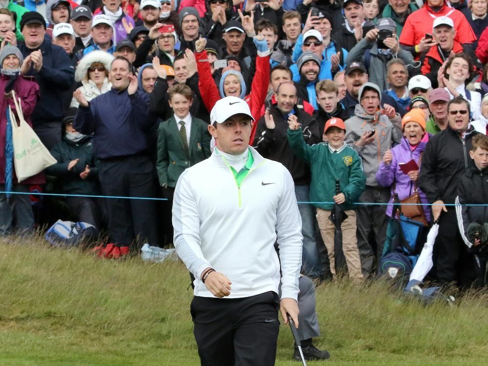 Abgeschlagen bei den US Open: Rory McIlroy