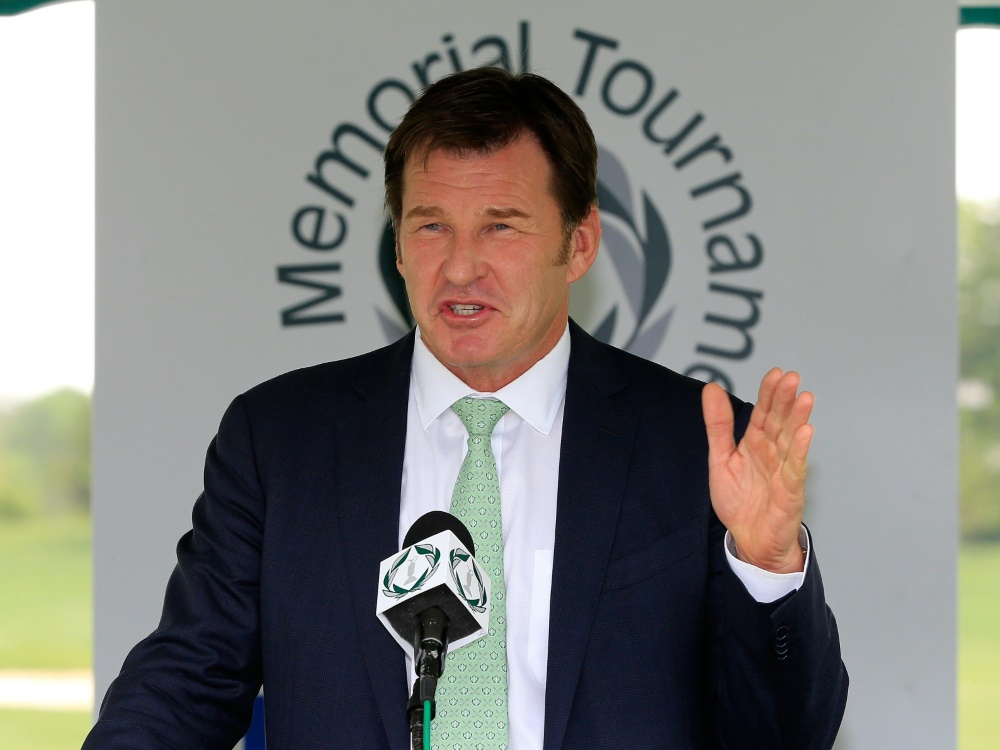 Sir Nick Faldo stellt den Kurs in Bad Saarow vor