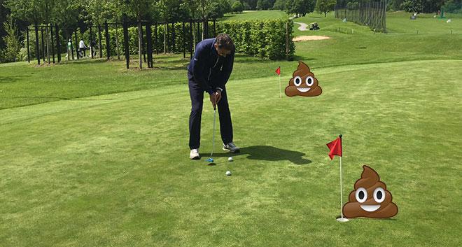 Unglaubliche Bedrohung für Golfplätze