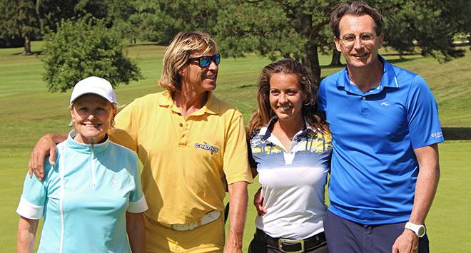 Hansi HInterseer mit Tochter Laura, Lilly Reisenbichler und Jürgen Mayer