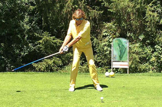 ruhiger Schwung, viel Gefühl und mentale Stärke, so erlebt man Hinterseer beim Golf
