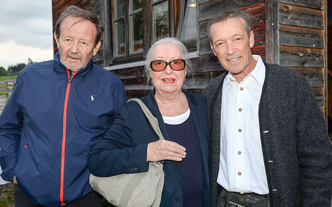 Michael Roll mit Vater Gernot Roll und Mutter Nina Roll