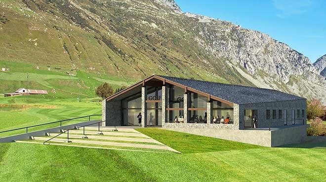 Golf Immobilie in der Schweiz Andermatt
