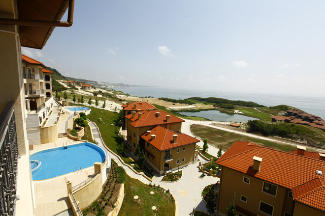 Thracian Cliffs Apartment Balkonblick