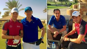 M. Kaymer mit J. Mayer v. exklusiv-golfen