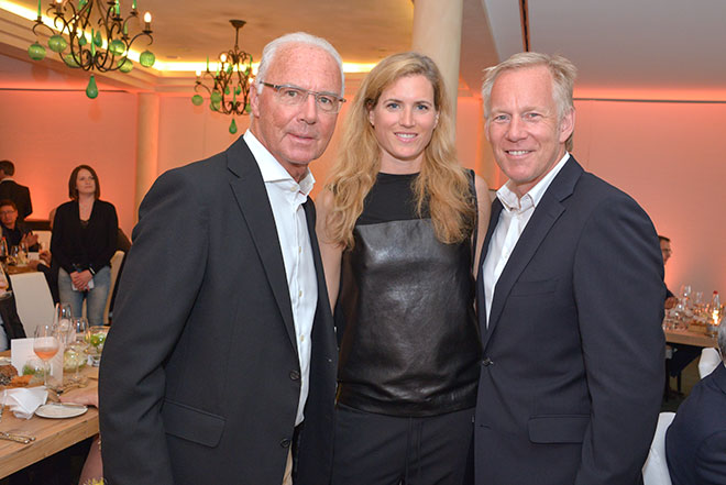 Johannes B. Kerner mit Frau Britta Kerner war nur bei der Abendveranstaltung mit dabei