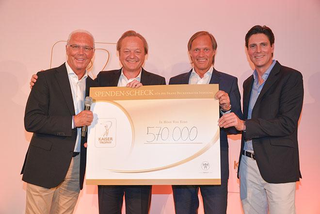 570.000 Euro für die Franz Beckenbauer Stiftung Kaiser Trophy
