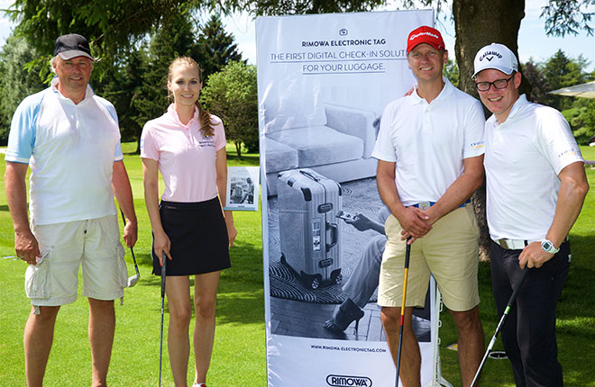 Rimowa Hit The Green - bereits Tradition bei CEO Golf zugewinnen der neue Electronic Bag Tag Koffer