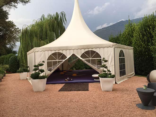 Yoga Zelt hinter dem SPA .. hier finden täglich bis zu 4 YOGA Sessions statt.