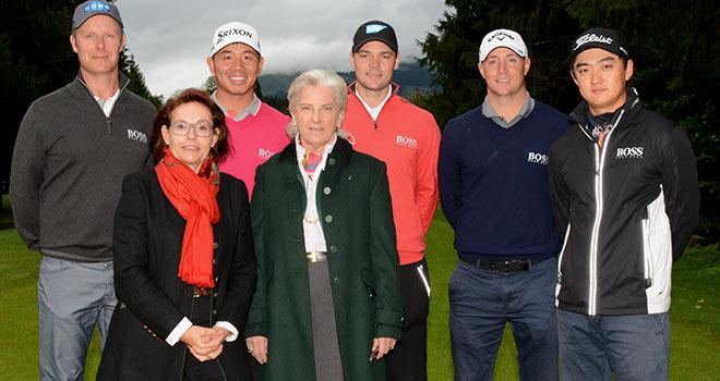kitzbühel golf: profigolfer Mikko Ilonen, Wu Ashun, Martin Kaymer, Alex Noren und Jin Jeong schlagen in tirol ab