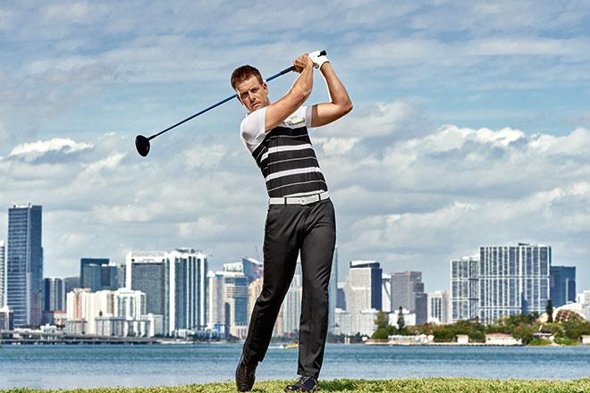 Einer seiner Lieblings-Outfits von Henrik Stenson aus der aktuellen Hugo Boss Golf Kollektion.