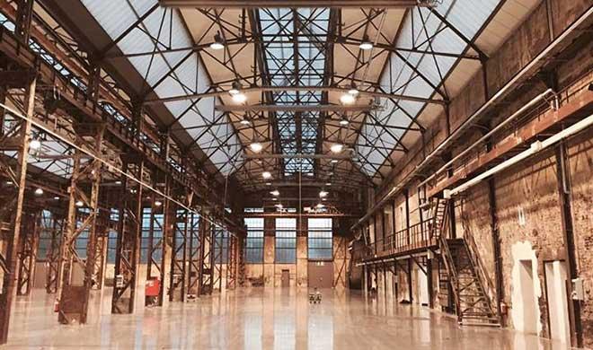 Die perfekte Messehalle in Düsseldorf: Areal Böhler. Der Aufbau für die Ferienimmobilien Messe Second Home beginnt am 9.11. 2016. Fotocredit: Second Home Messe