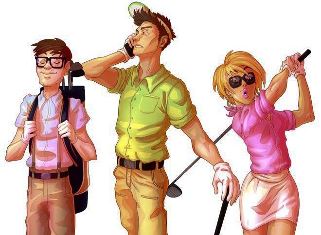 Golf Dresscode: Natürlich kann sich nicht jeder Amateurgolfer anziehen wie er will. Gewisse Regeln müssen eingehalten werden!