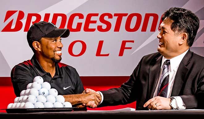 Ab sofort spielt Tiger Woods Bridgestone