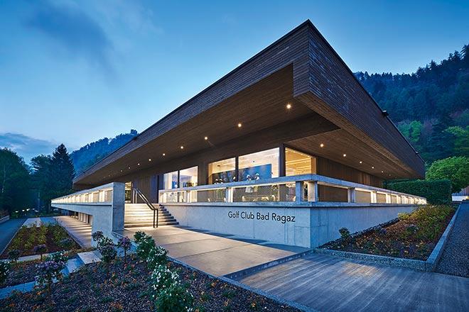 12 Mio. € Schweizer Franken kostete dem Golf Club Bad Ragaz das neue Clubhaus!