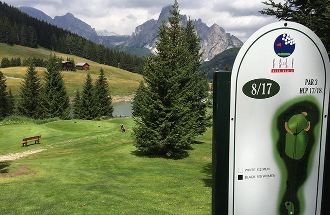 Von überall hat man herrliche Ausblicke auf die tolle Bergwelt der Dolomiten.