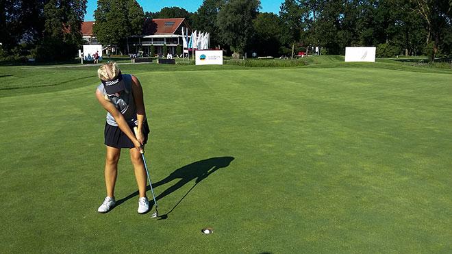 Erst seit kurzem im Golfsport aktiv, Lena Marie Hemmers spielt im GC München Eichenried