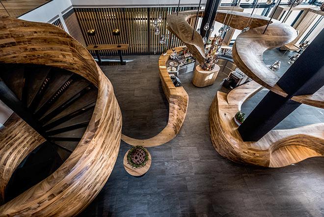 Die Hotelbar 'Freiraum' des Puradies erhielt zwei Design Award