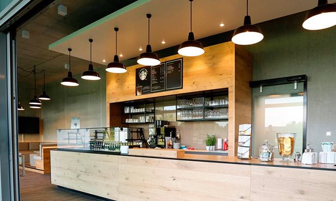 Von der Planung bis zur Realisierung des Starbucks in einem Golfclub vergingen gerade einmal vier Wochen. Fotocredit: Matthias Leo