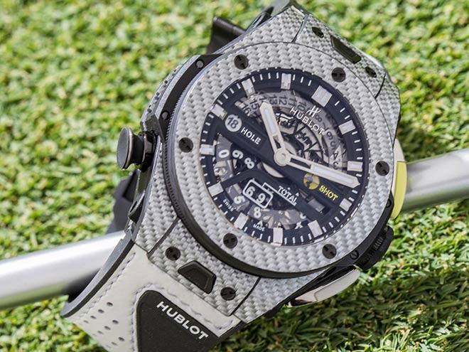 Mit dieser Hublot Uhr für Golfer muss man natürlich Runden unter 100 schaffen!