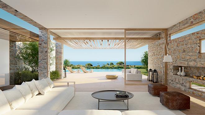 Aus einer Golf-Front-Villa hat man einen uneingeschränkten Blick auf Meer und Golfplatz. Perfekt für Wohneigentum!