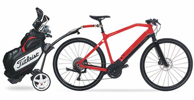 17,5 kg wiegt dieses e-bike für Golfer