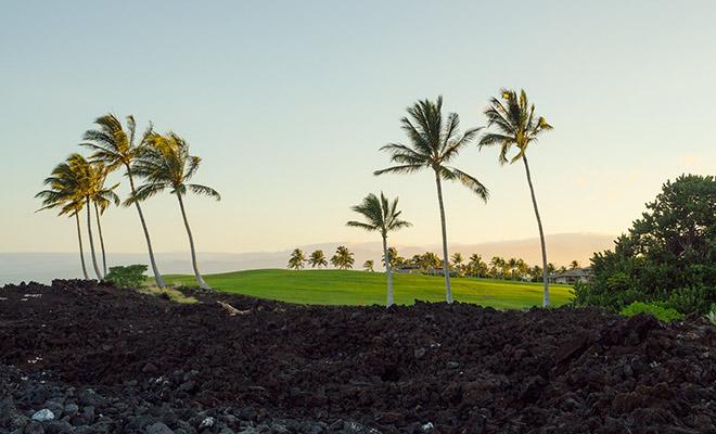 Golfspielen auf Hawaii