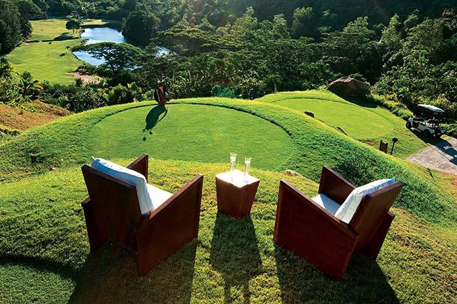 Hier wartet man gern an der Teebox: Constance Lemuria auf den Seychellen. Fotocredit: Thomas Cook Signature