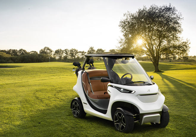 Garia Golf Car inspired by Mercedes-Benz Style