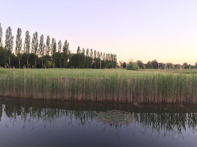 Loch 14 mit Blick auf das Inselgrün vom Golfpark Aschheim - Foto Y. Wirsing
