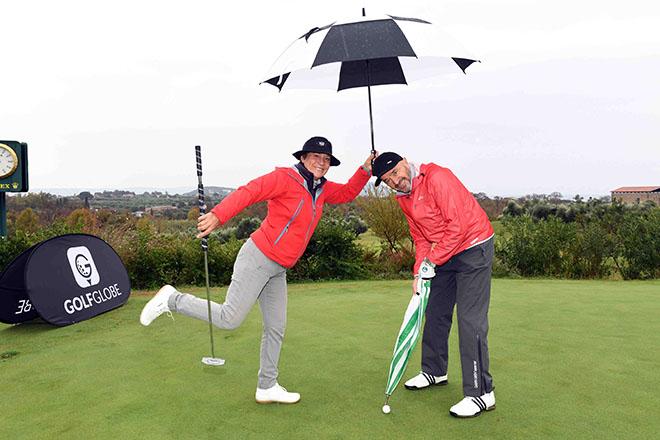Rosi Mittermaier mit Mann Christian Neureuther sind Stammgäste beim Eagles Präsidenten Golf Cup. Fotocredit: Agentur Schneider-Press/W.Breiteneicher