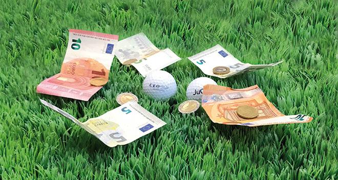 Zocken auf dem Golfplatz