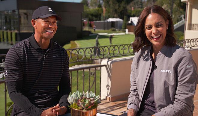 Tiger Woods beginnt seine Arbeit mit Henni Zuel gerade beim Turnier Genesis Open. Fotocredit: GOLFTV