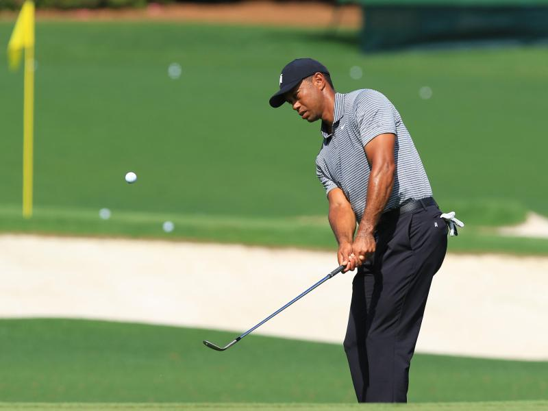 Tiger Woods will beim 83. Masters in Augusta seinen 15. Major-Triumph perfekt machen. Foto: -/kyodo