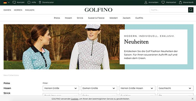 bester golf onlineshop